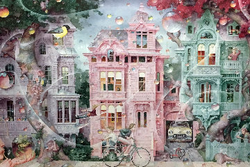 Bubble Street 1998 Limited Edition Print by Daniel Merriam