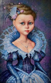 Little Princess 20x15 Original Painting by Daniel Merriam