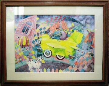 No Parking 1992 30x38 Huge Original Painting - Daniel Merriam