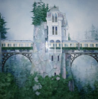 Crossing  Over PP 1994 Limited Edition Print by Daniel Merriam - 0