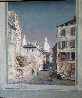 Montmartre 1987 50x60 Original Painting - Lev Meshberg