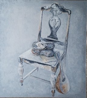 Chair 1987 41x46 Original Painting - Lev Meshberg