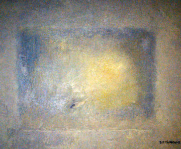 Aquarium III 1991 25x27 Original Painting by Lev Meshberg