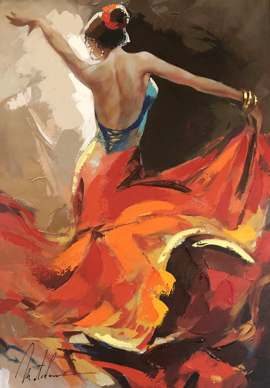 Flamenco Dancer 2014 Embellished Limited Edition Print by Anatoly Metlan