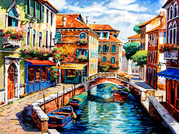 Venice Canal Limited Edition Print - Anatoly Metlan