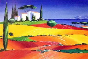 Apres Midi D'ete 2000 35x46  After Mid Day Original Painting - Monika Meunier