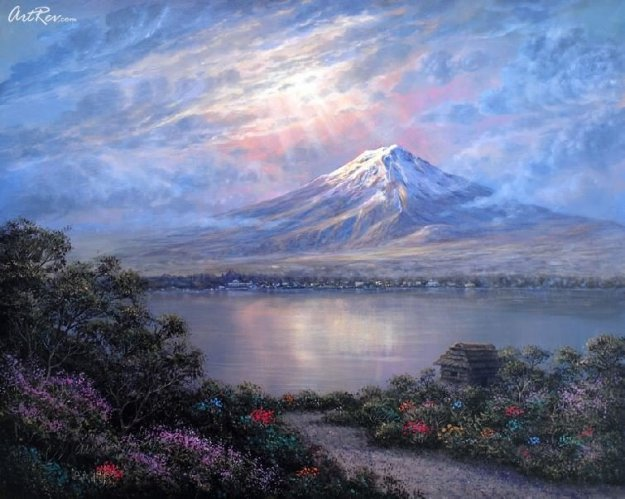 Twilight At Fuji Japan Limited Edition Print by Maurice Meyer