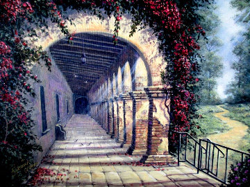Morning At San Juan Capistrano Mission 2009 Limited Edition Print - Maurice Meyer