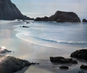 Untitled Seascape 30x34 Original Painting - Maurice Meyer