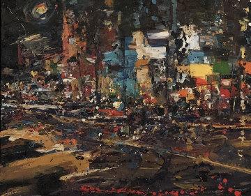 Friday Night Lights 32x42 Huge Original Painting - Carolyn Meyer