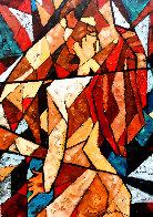 Kiss 2007 39x24 Original Painting by Trevor Mezak - 0
