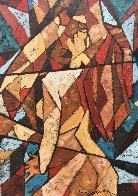 Kiss 2007 39x24 Original Painting by Trevor Mezak - 4