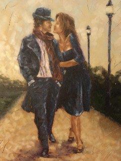 Walk in the Park 2007 40x30 Original Painting - Trevor Mezak