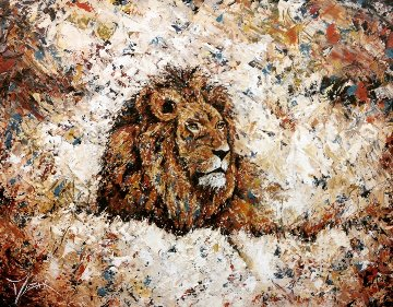 King 2015 30x40 Original Painting - Trevor Mezak