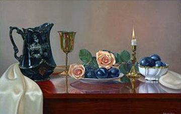 English Beauty 2007 33x48 Huge Original Painting - Mark H Brown