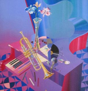 Jazz Combo 40x42 Huge Original Painting - Michael Gorban