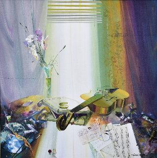 Untitled Painting 48x48 Original Painting - Michael Gorban