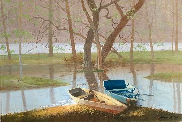 On the River Original 2011 24x36 Original Painting by Michael Gorban