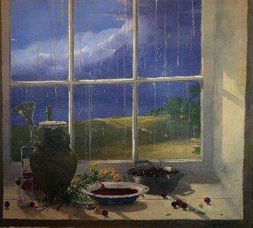 Clear Skies 2004 40x36 Super Huge Original Painting - Michael Gorban