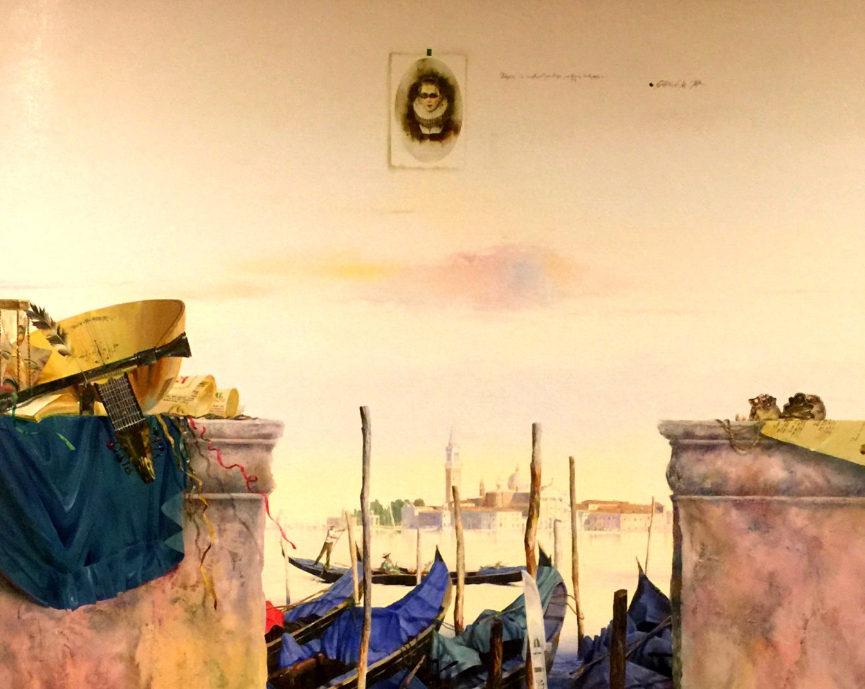 Impressions, Venice 1998 51x63 Huge  Original Painting by Michael Gorban