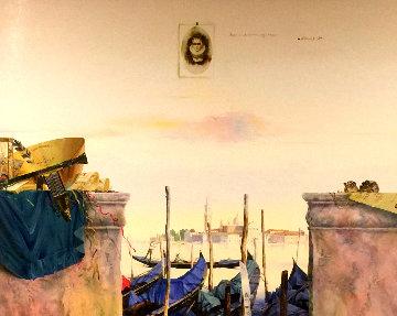 Impressions, Venice 1998 51x63 Huge  Original Painting - Michael Gorban