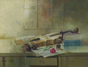Fiddler 24x30 Original Painting by Michael Gorban