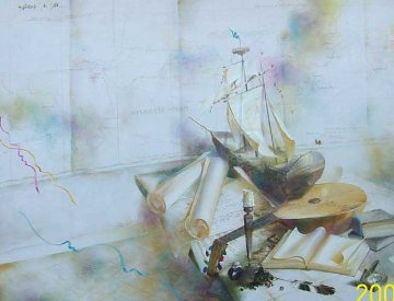 Voyage Of The Columbia 1998 38x50 Original Painting by Michael Gorban