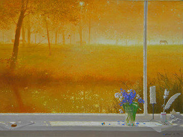 Glowing Morning 2008 30x40 Original Painting by Michael Gorban
