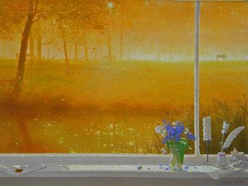 Glowing Morning 2008 30x40 Super Huge Original Painting - Michael Gorban