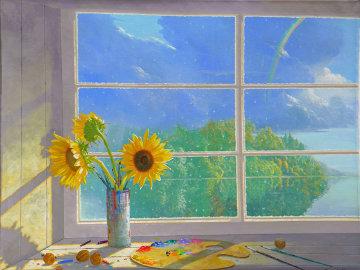Sunflower Rainbow  Original Painting - Michael Gorban