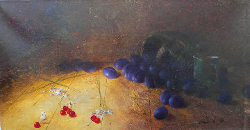 Some Plums 2000 16x12 Original Painting by Michael Gorban