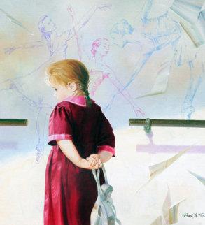 Dream of Ballet 1998 42x38 Super Huge Original Painting - Michael Gorban