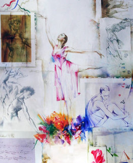 En Point 1998 40x30 Original Painting - Michael Gorban