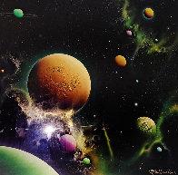 Golden Moon Dust 1993 36x36 Original Painting by Michael David Ward - 0