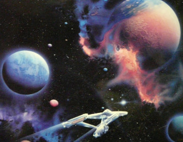 Second Star to the Right 1992 Signed by Star Trek Actors 1992 Limited Edition Print - Michael David Ward