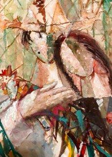 Untitled Painting 1947 20x16 Original Painting - Jose Mijares