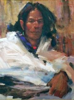 Healer 1998 19x15 Original Painting by Mike Larsen