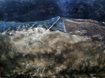 Landscape 1984 25x33 Original Painting - Vyacheslav Mikhailov