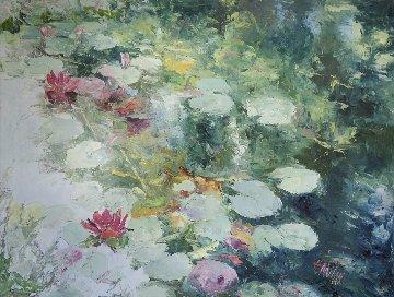 Boundless Grace 1998 34x44 Original Painting - Henrietta  Milan