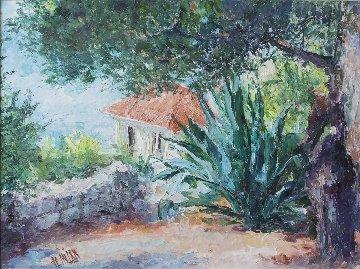 Bordighera Italy 1998 48x38 Original Painting - Henrietta  Milan