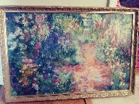 Untitled Painting 24x35 Original Painting by Henrietta  Milan - 1