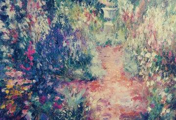 Untitled Painting 24x35 Original Painting - Henrietta  Milan