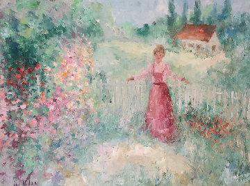 Untitled Painting 29x39 Original Painting - Henrietta  Milan