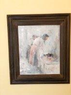 Washer Women 1985 34x30 Original Painting by Henrietta  Milan - 1