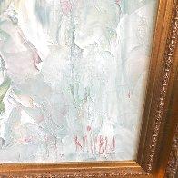 Yellow And Apricot Iris 34x34 Original Painting by Henrietta  Milan - 2