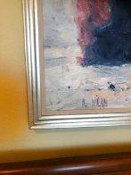 Fishing 33x33 Original Painting by Henrietta  Milan - 2