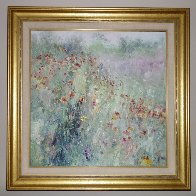 Field By My House 1992 39x39 Huge Original Painting by Henrietta  Milan - 1