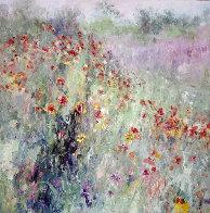 Field By My House 1992 39x39 Huge Original Painting by Henrietta  Milan - 0