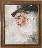 Lee Marvin 1975 22x26 Original Painting by Henrietta  Milan - 1