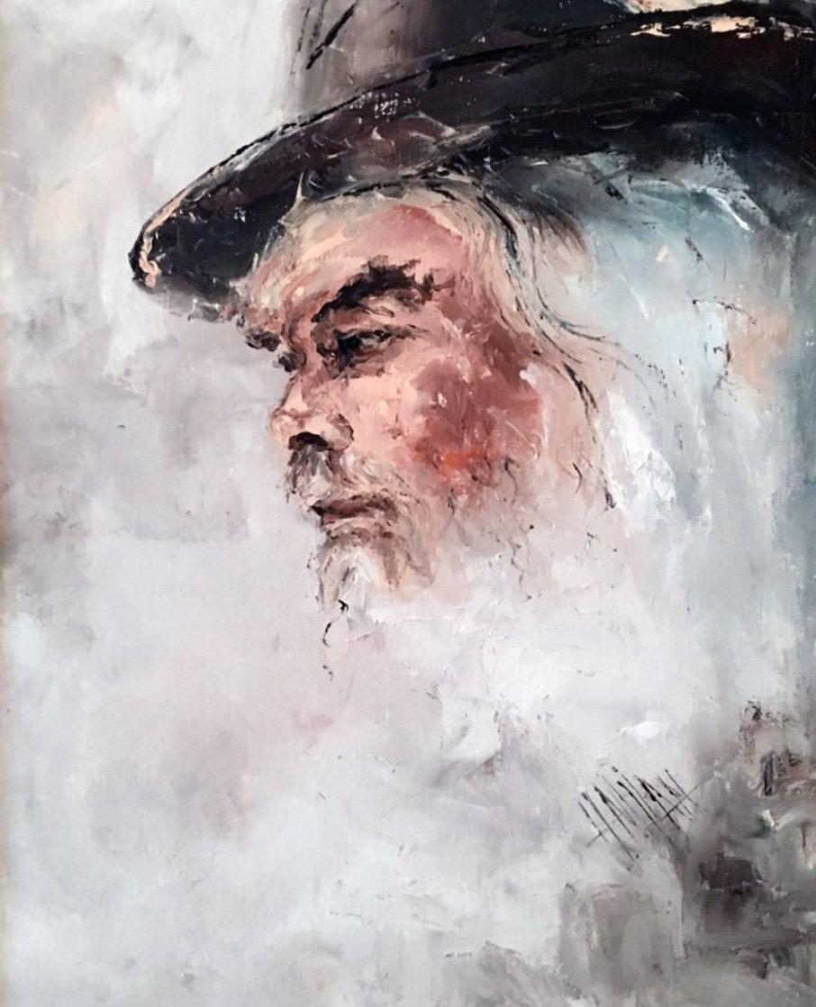 Lee Marvin 1975 22x26 Original Painting by Henrietta  Milan